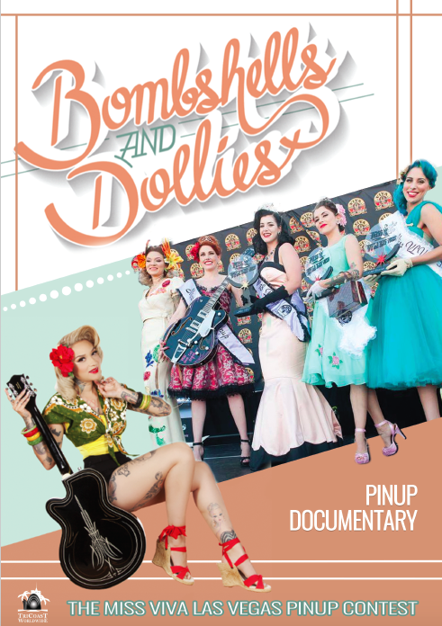 Bombshells & Dollies pin up poster
